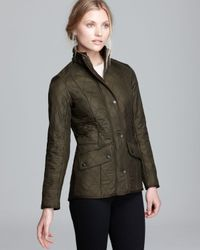 Barbour | Green Cavalry Polarquilt Jacket | Lyst