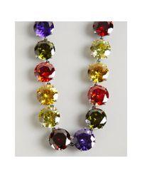 Bottega Veneta | Red Multi Color Faceted Cz Stone Necklace | Lyst