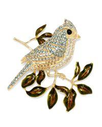Brooks Brothers | Metallic Tufted Titmouse Audubon Brooch | Lyst