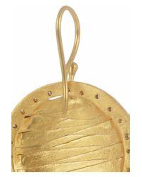 Kevia - Metallic Goldplated Cubic Zirconia Earrings - Lyst