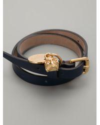 Alexander McQueen - Blue Skull Charm Bracelet for Men - Lyst