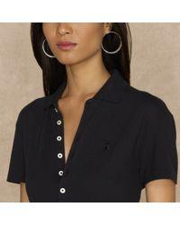 Ralph Lauren Blue Label | Black Long Placket Polo Tunic | Lyst