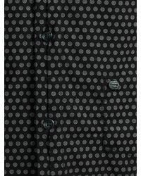 DIESEL - Black Sarzana Spot Print Long Sleeve Shirt for Men - Lyst