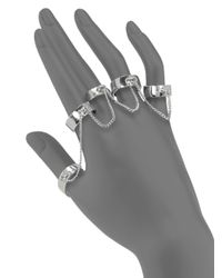 Eddie Borgo | Metallic Five-finger Ring Set/silvertone | Lyst