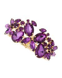 Fragments | Purple Amethyst Stone Cluster Bracelet | Lyst