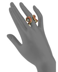 Giles & Brother | Orange Cortina Beaded Ring | Lyst