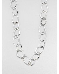 Ippolita - Metallic Glamazon Scultura Sterling Silver Wavy Oval Link Chain Necklace - Lyst