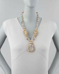 Jose & Maria Barrera - Metallic Druzy Crystal Necklace 22l - Lyst