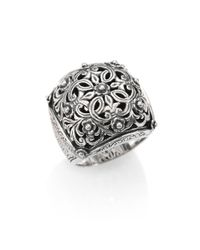 Konstantino | Metallic Classics Sterling Silver Floral Cushion Ring | Lyst