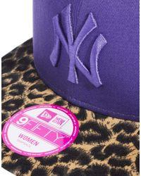 ASOS - New Era Purple Leopard Los Angeles Dodgers Snapback Cap - Lyst