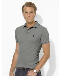 Polo Ralph Lauren | Gray Custom-fit Polohemd for Men | Lyst