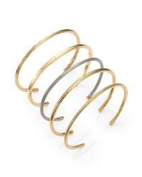 Saint Laurent | Yellow Engraved Cuff Bracelet | Lyst