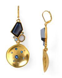 T Tahari | Metallic Night Sky Concave Circle Drop Earrings | Lyst