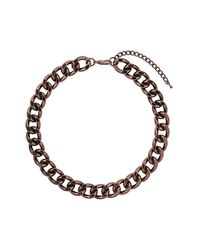 TOPSHOP - Black Chocolate Curb Chain Necklace - Lyst