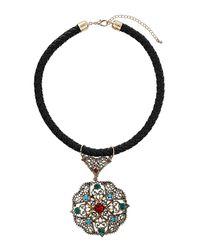 TOPSHOP - Multicolor Antique Pendant Necklace - Lyst