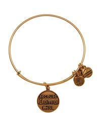 ALEX AND ANI | Metallic Because I Am A Girl Expandable Wire Bangle, Charity By Design Collection | Lyst