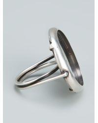 Ann Demeulemeester - Metallic Circle Mirror Ring - Lyst