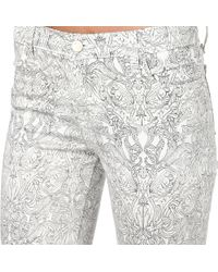 J Brand - White J Brand 620 Camelot Printed Superskinny Midrise Jeans - Lyst