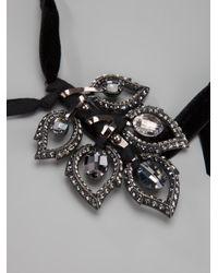 Lanvin | Metallic Leaf Pendant Necklace | Lyst