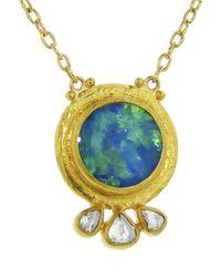 Gurhan - Metallic Round Opal Pendant - Lyst