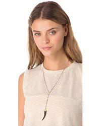 Heather Hawkins   Metallic Y Necklace with Black Horn   Lyst