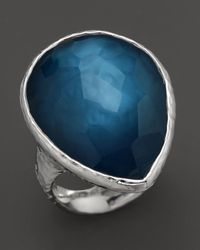 Ippolita - Metallic Sterling Silver Large Teardrop Ring In Indigo - Lyst