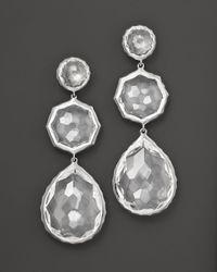 Ippolita | Metallic Sterling Silver Rock Candy Crazy 8'S Earrings In Clear Quartz | Lyst
