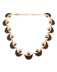 Lele Sadoughi - Black Moon and Sun Necklace - Lyst