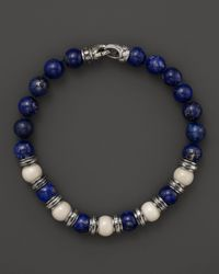 Scott Kay | Blue Bone and Lapis Beaded Bracelet for Men | Lyst
