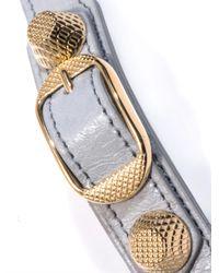 Balenciaga - Gray Doublewrap Giant Stud Bracelet - Lyst