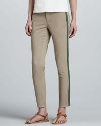 Vince - Natural Side-stripe Twill Pants - Lyst