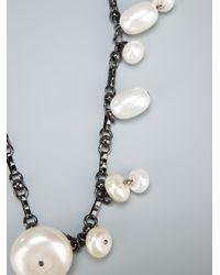 Antonella Filippini - Metallic Pearl Necklace - Lyst