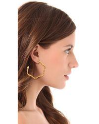 Aurelie Bidermann - Blue 'tao' Hoop Earrings - Lyst