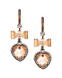 Betsey Johnson - Metallic Earrings - Lyst