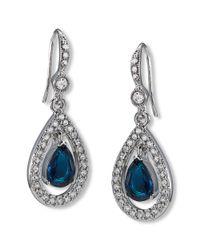 Carolee | Blue Earrings, Silver-tone Pave Stone Drop Earrings | Lyst