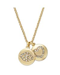 Juicy Couture - Metallic Gold-tone Evil Eye and Heart Charm Necklace - Lyst