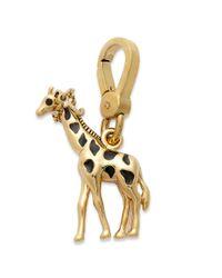 Juicy Couture - Metallic Goldtone Giraffe Charm - Lyst