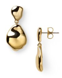 Nadri - Metallic Polished Metal Abstract Drop Earrings - Lyst