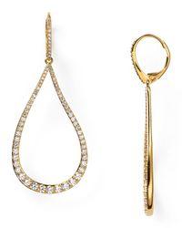 Nadri | Metallic Romantic Contemporary Pave Teardrop Earrings | Lyst