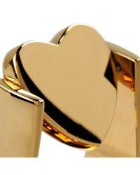 Stella McCartney - Metallic Heart Ring - Lyst