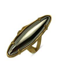 T Tahari - Metallic 14k Goldplated Surfboard Stretch Ring - Lyst