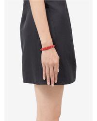 Valentino | Red Rockstud Patent Leather Skinny Bracelet | Lyst