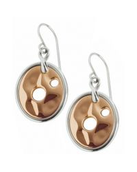Breil | Metallic Stainless Steel and Ion Plated Rose Gold Earrings | Lyst