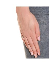 Campbell | Pink Rose Gold Plated Knuckle Floating Ring | Lyst