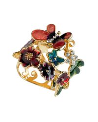 Guess - Ring Multicolor Flower and Butterfly - Lyst