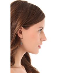 House of Harlow 1960 | Metallic Pave Top Safety Pin Earrings | Lyst