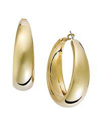 INC International Concepts | Metallic Goldtone Wide Hoop Earrings | Lyst