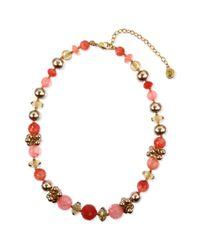Jones New York - Multicolor Worn Gold Tone Cherry Quartz Collar Necklace - Lyst