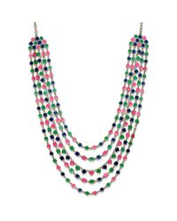 kate spade new york - Multicolor Kate Spade New York Necklace Goldtone and Multi Cubetti Bib Necklace - Lyst