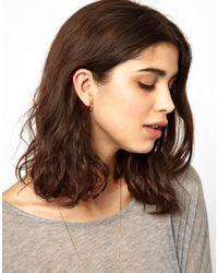 Maria Francesca Pepe - Metallic Spike and Rhinestone Hoop Earrings - Lyst